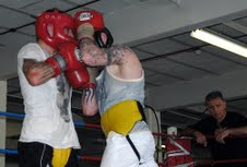 Ricky Burns sparring at the TKO London