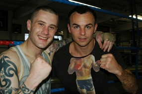 Ricky Burns and Kevin Mitchell at TKO London